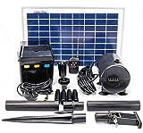 800 L./Std. Solarpumpen-Set mit Batteriespeicher und LED´s Solaray™