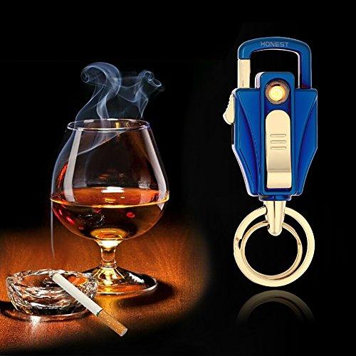 Elektronisches Feuerzeug von Outry, lichtbogenes Feuerzeug mit USB umweltfreundlich, windfest und schnell wieder aufladbar (Blau)