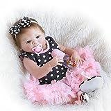ZIYIUI 45 cm Ganzkörper Silikon Reborn Baby-Puppe realistischer 18 inch Neugeborenes Baby Spielzeug Puppe Pflegepuppen