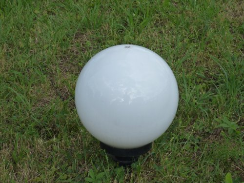 Kugelleuchte Außenleuchte 2er Set (20 + 20cm) Marlon Kugellampe, Gartenleuchte mit Erdspieß, E27, Gartenlampe Dekoration