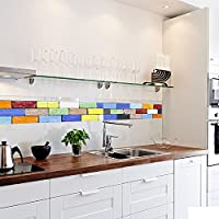 Arte Retro Pegatina De Pared De Ladrillo Pegatina De Azulejos Para Cocina Y Baño Impermeable Antimoho