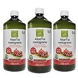 Offerta: 3 litri di succo di Aloe Vera da Bere e Melograno - 3 bottiglie da 1 litro