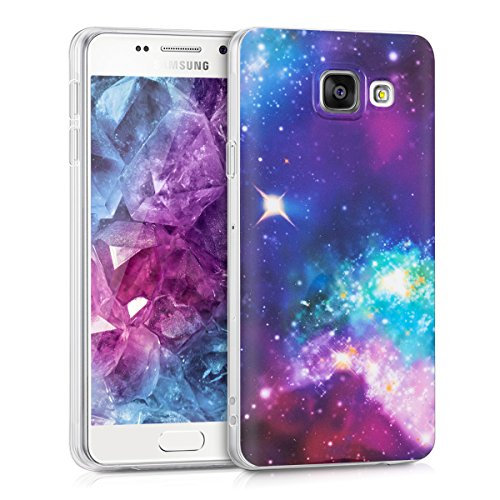 kwmobile Samsung Galaxy A3 (2016) Hülle - Handyhülle für Samsung Galaxy A3 (2016) - Handy Case in Mehrfarbig Pink Schwarz