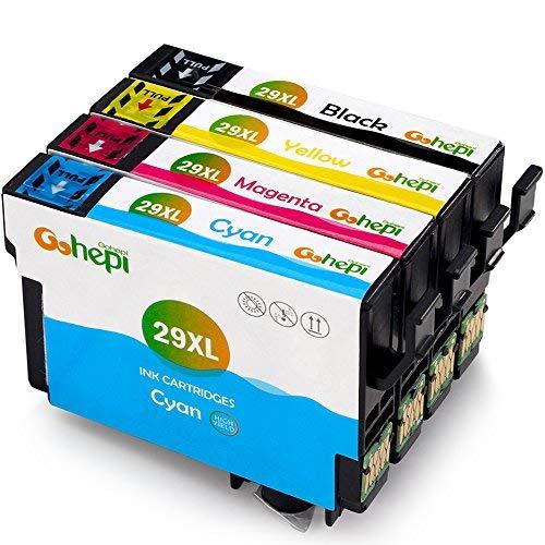 Gohepi 29 XL Compatibili Cartucce Epson 29XL 29 per Epson XP-342 XP-442 XP-245 XP-345 XP-432 XP-247 XP-235 XP-255 XP-257 XP-352 XP-452 XP-455 XP-335 XP-435 XP-355 (1 Nero,1 Ciano,1 Magenta,1 Giallo)