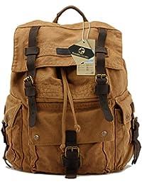 Koolertron - Multi-Function Sac à dos / sac de voyage / sac de randonnée en toile vintage militaire Unisexe - idéal pour Sony Canon Nikon Olympus DSLR ipad 2 ipad 3 mini ipad Google NEXUS 10