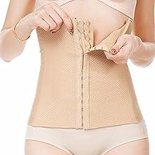 TININNA Mujer Corsé Corpiño Corset Fajas Reductoras Faja de Cinturón de Formación para Mujer de la cintura Cincher Underbust Bustiers (desnudo L)