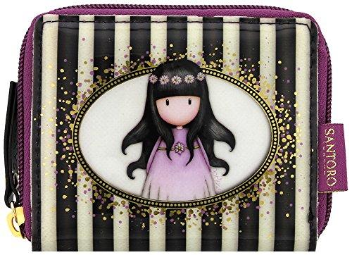 Gorjuss Santoro Gorjuss Classic Stripe Collection Mini Zip Wallet - Oops a Daisy, Portafogli multicolore Multi-Colour 11cm x 9cm x 1cm