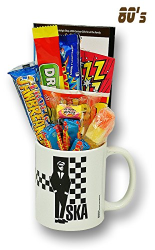 SKA Rude Boy Mug with a Rocksteady Selection of 1980's Retro Sweets.