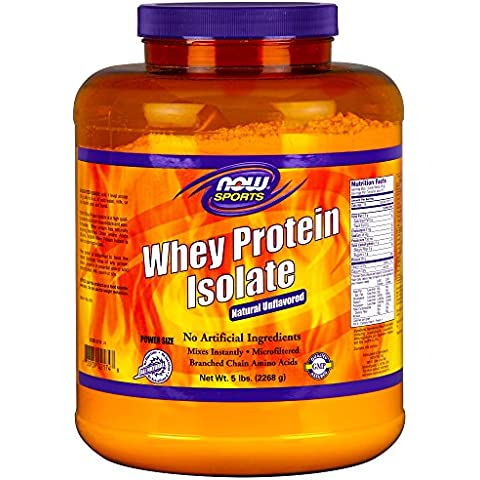 NOW Foods Sports Whey Protein Isolate Natural Unflavored -- 5