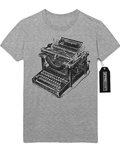 """T-Shirt """"REMINGTON TYPEWRITER"""" H112233 Grau"""