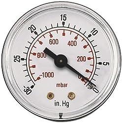 AIR-PRO - 0 30HG 50MM VAKUUMMETER 1/4 BSPT - Gewinde Hinten, bspt (Trocken Messgeräte)