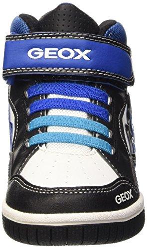 Geox Jungen Jr Gregg A High-Top Schwarz (BLACK/ROYALC0245)