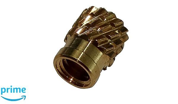 10 x M5 Threaded Brass Nut Inserts 8.3mm for Thermosetting Plastic C19142 Aerzetix