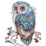 DIY 5D Diamant Malerei Diamant Malen nach Zahlen Kits Blau Eule 30 x 40 cm Cross-Stich für Wohnzimmer(nur Owl )