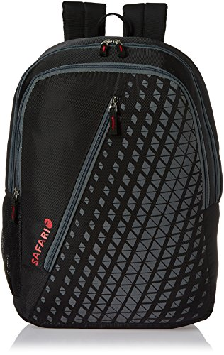 Safari 25 Ltrs Black Casual Backpack (Seesaw-Black-CB)