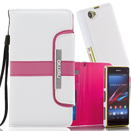 numia Schutzhülle für Sony Xperia Z Ultra Hülle [herausnehmbares Case] PU Leder Tasche Kartenfach [Rosa]