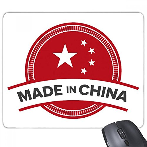 beatChong Made in China National Emblem Sterne Red Banner Chinese Rectangle Griffige Gummi Mousepad Spiel Mauspad Geschenk