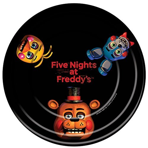 "Five Nights at Freddy's 9"" Plates (8 Pack)"