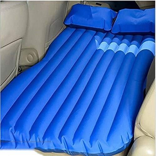 MUTANG Colchón Inflable de Aire para automóvil con Bomba (portátil) Viaje, Camping, Vacaciones | Almohadilla de Dormir para el Asiento Trasero | Camioneta, SUV, Minivan | Tamaño Compacto Doble