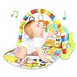 FGASAD - Tappeto Gioco 2 in 1 per Bambini, Tappetino Musicale e Tastiera per Bambini da 0 a 18 Mesi, Tappetino per Gattonare e sviluppare l'intelligenza