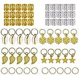 Haar Sieraden Ringen Aluminium, Metalen Haaraccessoires Decoraties voor Passie Twist Haak Vlechten Haar, 80 Stks