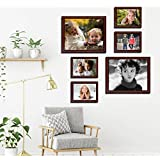 Set Of 4 Picture Frames || Premium Collage Photo Frame Timeline (Black, Set Of 4 Wall Photo Frames) By Printelligent