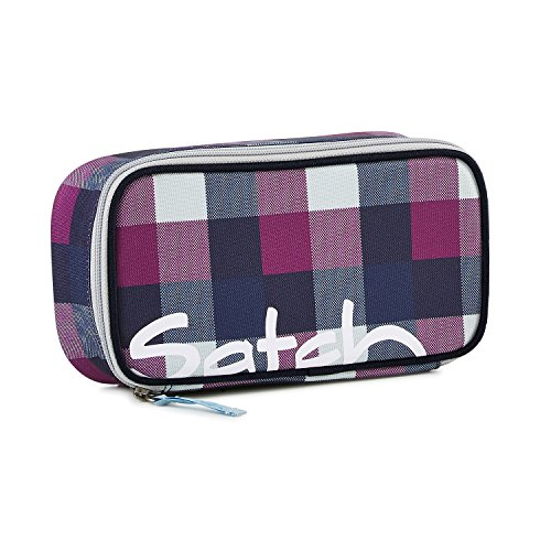 Satch by Ergobag Schlamperbox Berry Carry Trousse scolaire à rangement Mauve Fuchsia/carreaux 1