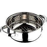 Chef Sauce CS-2551 24 cm Vaporera Acero Inoxidable, 24 x 9,5 cm, Gris