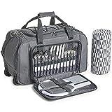 VonShef Picknick Trolley für 4 Personen / Kühltasche/ Picknick-Tasche