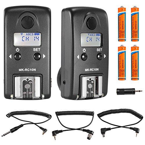 Neewer® MK-RC10N 2.4GHz Wireless LCD 1/8000s HSS TTL Studio Flash Speedlite Trigger Transceiver for Nikon D610 D800E D800 D700 D300s D300 D600 D5300 D5200 D3100 D7100 D90 D4s D3 (2 Pieces)