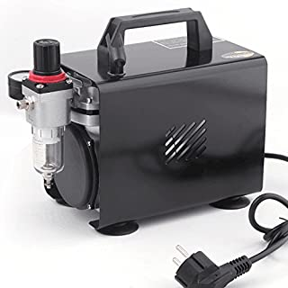 Fengda AS-18A - Professional Airbrush mini Kompressor / 4 bar / Kompakt mit Manometer, Druckminderer