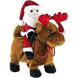 Playtastic Deko Figuren: Weihnachtsmann Salto Claus mit Rentier (Weihnachts)