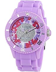 MADISON NEW YORK Damen-Armbanduhr Candy Time Flower Power Analog Quarz Silikon U4617-24