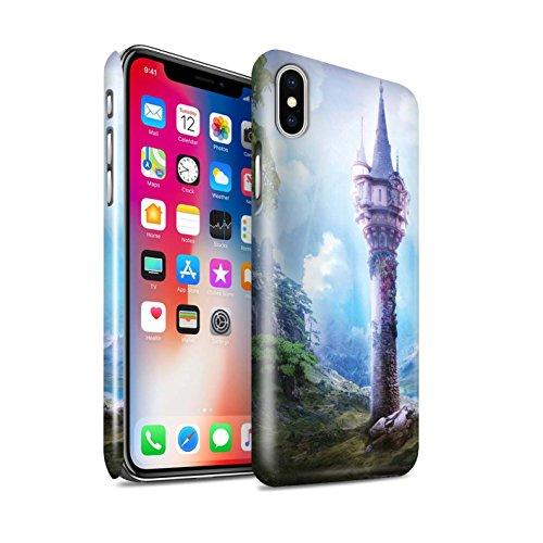 Officiel Elena Dudina Coque / Clipser Brillant Etui pour Apple iPhone X/10 / Lagune de Montagne Design / Fantaisie Paysage Collection La Magie Tour