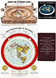 flache Erde Karte -Flat Earth Maps SET OF 2 MAPS-- 24 x 36 Gleason's New Standard Map Of The World | 24 x 18 Map of the Square and Stationary Earth by Orlando Ferguson (1)