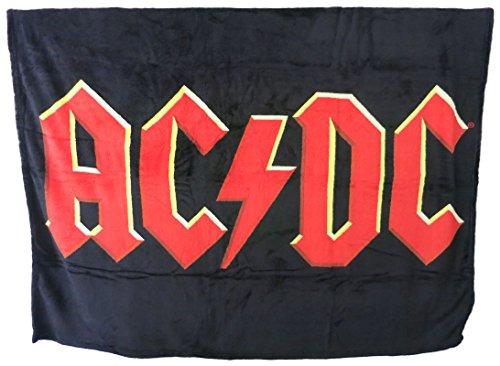 Unbekannt Klang und Kleid Half Moon Bay Tagesdecke Vliesdecke Decke AC/DC Logo (Bay Ac)