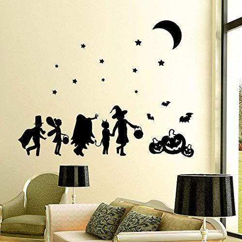 Happy Halloween Kürbis Knochen Fenster Dekoration Abziehbild Dekor DIY Kunst Decals Home Dekoration 60x70 cm ()