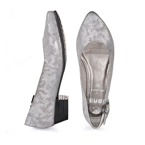 Jana 22203 Damen Pumps Silber (GREY/SILVER 212)