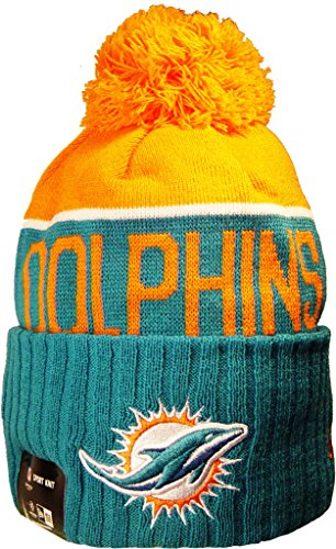 Officially Licensed by The NFL Miami Dolphins Hat Knit Beanie Jersey Hoodie Sweatshirt T-Shirt Flagge Apparel