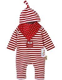 Vine mameluco recién nacidos bebes ropa para bebés nacido Romper ropa muñeca largos ropa de niño de la manga +Sombrero+baberos