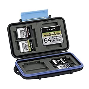 PNY Memory Card Case for SD card and CompactFlash water and shock resistant