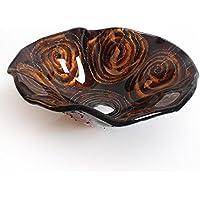 AIURLIFE A forma di fiore temperato vetro bagno lavello / rubinetto del bagno / bagno anello di montaggio