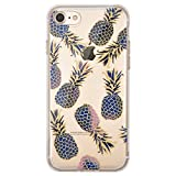 OFFLY Coque iPhone 7, Coque iPhone 8, [Empêcher Rayures] [Anti-Choc] Transparente Souple TPU Étui d' Protection, Cute Motif Fantaisie Apple iPhone 7 / iPhone 8 - Ananas