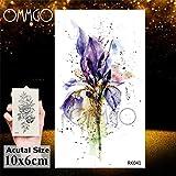 5Pcs- Lotusflower etiqueta engomada del tatuaje cadenas pendientes Arte Tato brazo de la muñeca del cuerpo del tatuaje de la acuarela, El tatuaje En Ork041