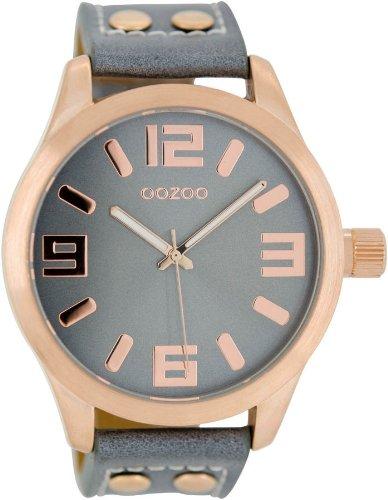 Oozoo Armbanduhr XL Blaugrau C1154