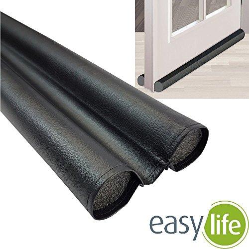 easy life Türboden-Dichtung Duo greenLINE 95 cm Zugluft-Stopper individuell kürzbar Wind-Stopper aus flexiblem PVC Tür-Dichtung gegen Kälte, Insekten und Lärm