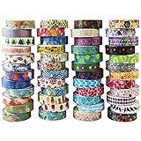 Washi Tape Lot de 48 rouleaux de ruban adhésif décoratif pour scrapbooking