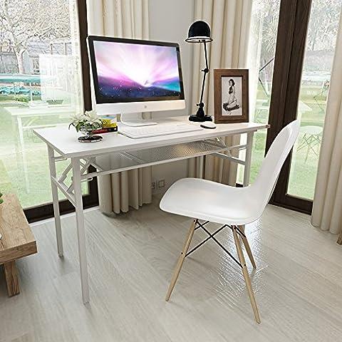 Need Schreibtische 120x60cm Klapptisch Computertisch Workstations Bürotisch Arbeitstisch Konferenztische Bürotisch Holz, Weiß