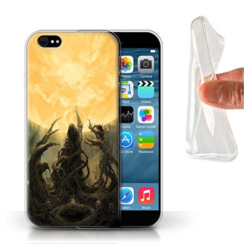 Offiziell Chris Cold Hülle / Gel TPU Case für Apple iPhone 6S / Schatten Ritter Muster / Unterwelt Kollektion Sonnengott/Reben