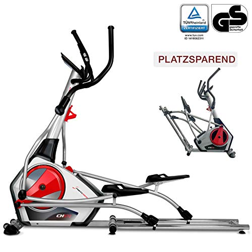 Sportstech Ellipsen Crosstrainer CX670 mit Quick-Fold-System & natürlicher Laufbewegung, 21 kg Schwungmasse, Bluetooth-& Pulsgurtkompatibel, Smart-App mit 12 Trainingsprogrammen HRC + Tablet-Halterung -